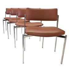 Mcm Dining Chairs by Eight Mid Century Modern Chrome Stacking Dining Side Or Game