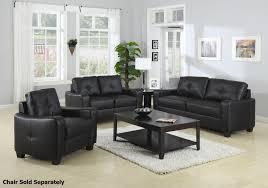 Loveseat Black Leather Black Leather Loveseat Latitude Run Bergenfield Modern Living