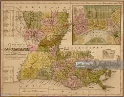 Battle Of New Orleans Map by Map Of Louisiana 1844 Pictures Getty Images