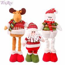 fengrise santa cluse doll decorations elk snowman