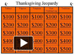 ppt thanksgiving jeopardy powerpoint presentation free to view