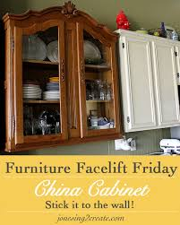 kitchen china cabinet furniture facelift friday china cabinet turned kitchen cabinet