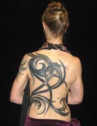 back tribal tattoos for women