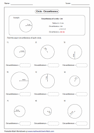 circumference and area worksheets free worksheets library