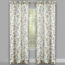 Curtains With Trees On Them 63 Leaf Pattern Textured Window Curtains Set Of 2