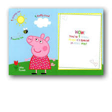 peppa pig birthday peppa pig 1st birthday card official licensed merchandise