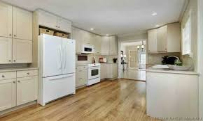 100 kitchen ideas with white appliances two toned kitchen