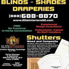 blinds shades draperies elite interiors poway ca
