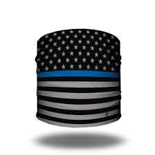 American Flag Doodle Thin Blue Line Flag Bandana Women U0027s Headbands Hoo Rag