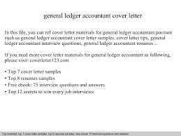 General Ledger Accountant Resume Sample by General Ledger Accountant Cover Letter