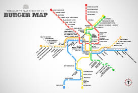 Metro Line Map by The Washington Dc Metro Burger Map Burgers At Every Metro Stop