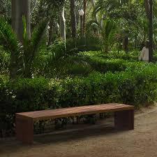 park benches rapadouro corten steel bench street furniture