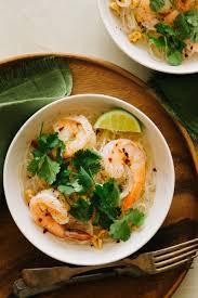 yum woon sen with shrimp glass noodle salad with shrimp