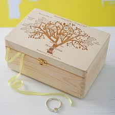 baptism jewelry box personalised wood keepsake box family tree personalised family