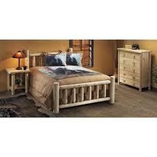 Natural Nightstand Rustic Natural Cedar Furniture Company Cedar Log Nightstand