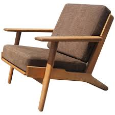 Low Back Armchair Ge 290 Low Back Lounge Chair By Hans Wegner For Getama At 1stdibs