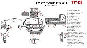 2000 toyota tundra accessories toyota tundra 2000 2002 premium dash trim kit tyt 17b