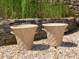 tree stump planters a pair of 20th century terracotta garden planters by philip