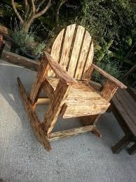 diy scorched pallet wood rocking chair pallet wood pallets and