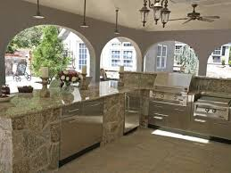 Outside Kitchens Designs Enthralling Outside Kitchens Grill Smoker Cabinets With Polished