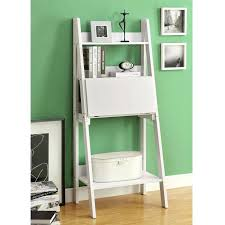 Ladder Office Desk Ladder Bookcase Desk Leaning Shelf Bookcase With Computer Desk