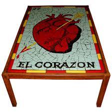 El Patio Furniture by Mosaic Table El Corazon Loteria Card Mosaic Tables Pinterest