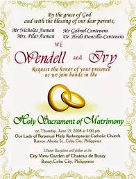 sle of wedding programs ceremony philippine wedding invitations wordings popular wedding