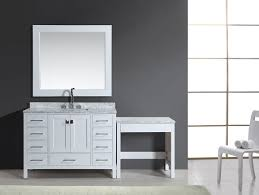 White Bathroom Vanity Cabinets by 48