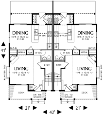 family home floor plans narrow lot multi family home 69464am architectural designs