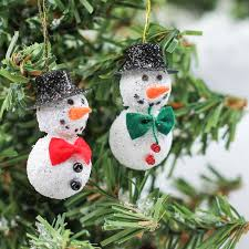 miniature snowman ornaments ornaments and
