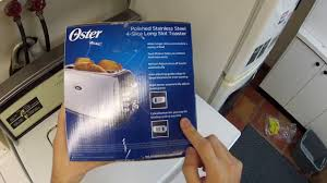 oster long slot toaster unboxing youtube