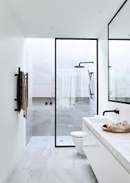 Bathroom Floor To Roof Charcoal by 12 Black Penny Tile Floor Makes A Statement In This Modern And