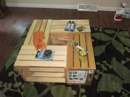 crate coffee tables create cook teach diy crate coffee table
