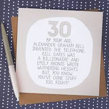 birthday card messages by your age 30th birthday card by paper plane