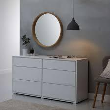 ls plus round mirror john lewis round oak scandi mirror 70 x 70cm natural at john lewis