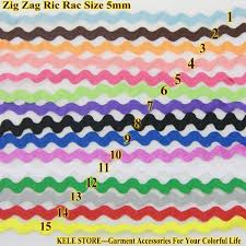 ric rac ribbon free shipping zig zag ric rac ribbon width 5 6mm 100m roll