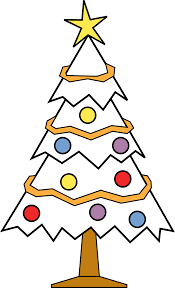 christmas tree black and white clipart free download clip art