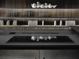 contemporary kitchen glass metal island filò by roberto