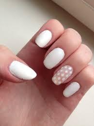 matte white dotted nailart essie blanc nails pinterest