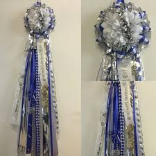 mums for homecoming royal blue and white homecoming enchanted florist