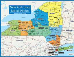 County Map Of New York State by About The Court