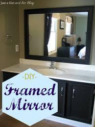 how to frame a bathroom mirror with clips diy framed mirror