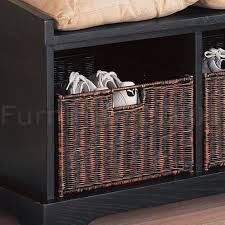Bench With Baskets Storage Bench With Baskets Progressive