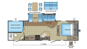 Jayco Travel Trailers Floor Plans by 2017 Jayco White Hawk 28dsbh Model
