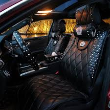 housse de siege auto personnalisé personnalisé housses de siège de voiture en cuir rivet