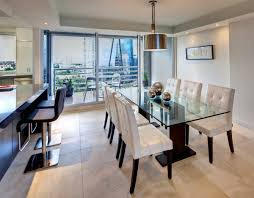 dining room glass table sets apartment simple modern apartment dining room design with long