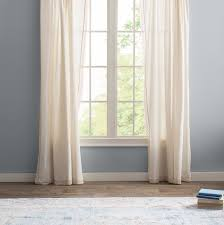 Sheer Pinch Pleat Curtains Laurel Foundry Modern Farmhouse Arraignee Solid Semi Sheer Pinch
