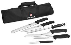 victorinox kitchen knives fibrox victorinox fibrox culinary knife roll set 7 cutlery and more