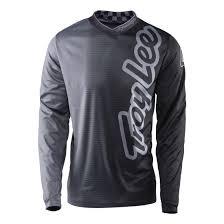 troy lee designs motocross gear troy lee designs gp jersey long sleeve 2017 50 50 charcoal bike24