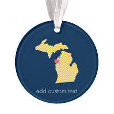 state of michigan ornaments keepsake ornaments zazzle